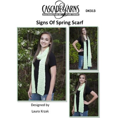 Signs of Spring Crocheted Scarf in Cascade Sateen - DK313