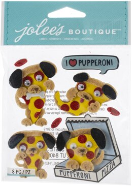 Jolee's Boutique Themed Embellishments 8/Pkg - Pupperoni Pizza