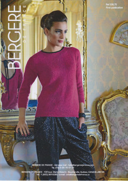 Open Back Evening Sweater in Bergere de France Angel & Caline - 33670