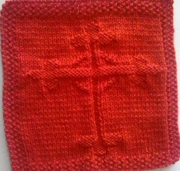 Gothic Cross Knitted Dishcloth Pattern