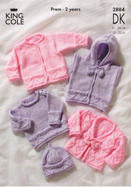 Sweater, Hoody & Cardigans in King Cole Comfort Baby DK - 2884