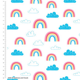 Craft Cotton Company Children - Rainbows & Clouds