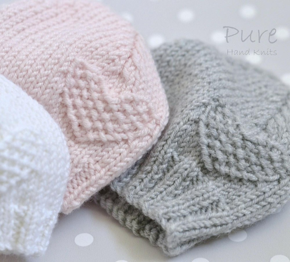 Baby Hat \'Fay\' 4x Preemie sizes/Newborn/Baby/Toddler Knitting ...
