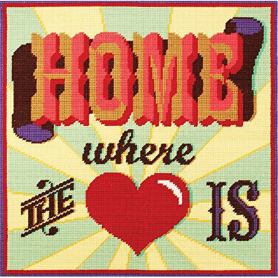 DMC Home Where the Heart Is Tapestry Cushion Front Kit