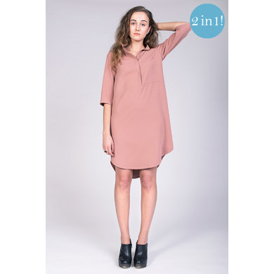 Named Clothing Helmi Trench Blouse & Tunic Dress  - Downloadable PDF, Size 32-50