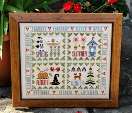 Historical Sampler Company Four Seasons Sampler Cross Stitch Kit