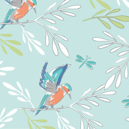 Visage Textiles Lily Pad Cut to Length - Kingfisher Blue
