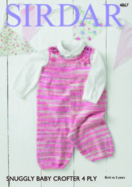 Dungarees in Sirdar Snuggly Baby Crofter 4Ply - 4867 - Downloadable PDF
