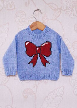 Intarsia - Bow Chart - Childrens Sweater