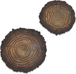 Sizzix Bigz Die W/Texture Fades By Tim Holtz - Mini Tree Rings