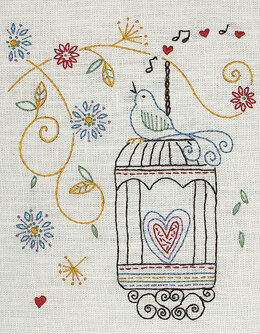 Anchor Freestyle Birdcage Starter Embroidery Kit - 15 x 20 cm