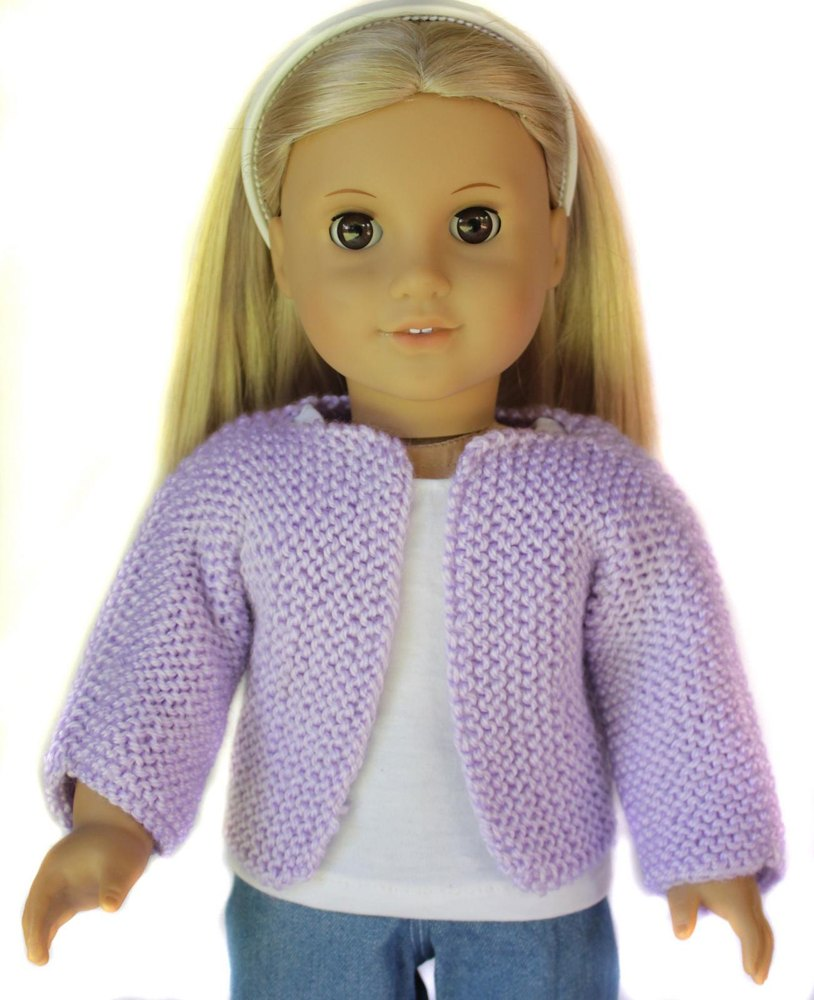 Beginner Knit Sweater For 18 Inch Dolls Knitting Pattern