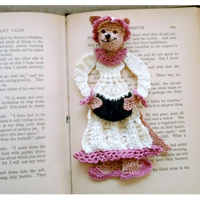 Wolf in grandma's Clothing bookmark/decoration