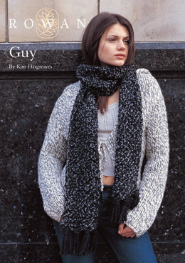 Guy Scarf in Rowan Big Wool