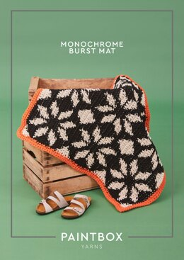 """""""Monochrome Burst Mat"""" - Free Crochet Pattern For Home in Paintbox Yarns Recycled Big Cotton-6"""