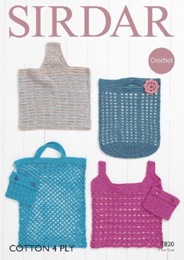 Bags in Sirdar Cotton 4 Ply - 7820- Downloadable PDF
