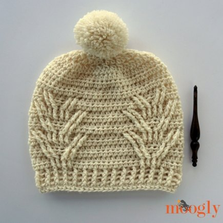 Staghorn Slouch   Messy Bun Hat crochet project by Moogly  1e2a438f1c2