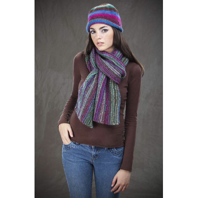 Bohemian Hat and Scarf Set in Wisdom Yarns Poems