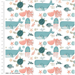 Craft Cotton Company Under The Sea - Creatures