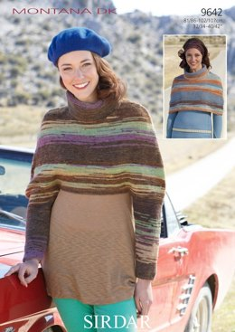 Cape with and without Sleeves in Sirdar Montana DK