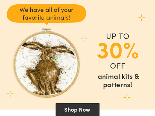 Up to 30 percent off animal kits & patterns!