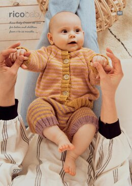Striped Jacket and Trousers in Rico Baby Dream DK Uni - 975 - Downloadable PDF