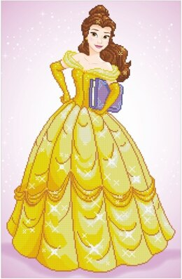 Vervaco Disney Belle Diamond Painting Kit -