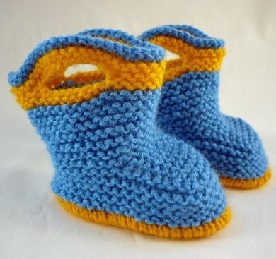 Free Knitting Patterns For Baby Booties And Mittens : Splish Splash Splosh Baby Booties Knitting pattern by Julie Taylor Knitting...