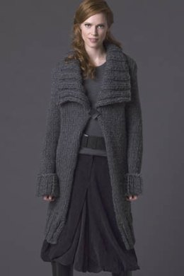 Anise Shawl-Collar Coat in Tahki Yarns Big Montana