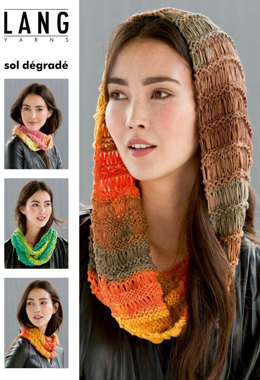 Scarf in Lang Yarns Sol Degrade