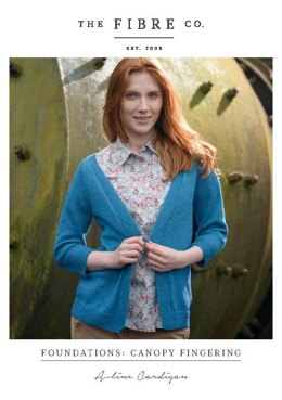 A-line Cardigan in The Fibre Co. Canopy Fingering - Downloadable PDF