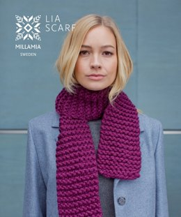 Lia Scarf - Beginners Knitting Pattern in MillaMia Naturally Soft Super Chunky