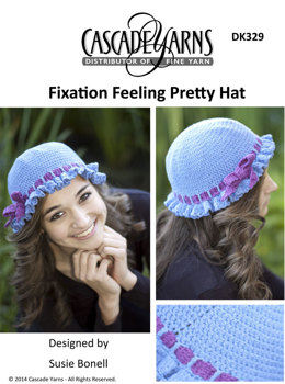 Feeling Pretty Hat in Cascade Fixation - DK329
