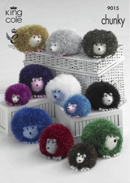 Hedgehogs in King Cole Tinsel Chunky and King Cole Dollymix DK - 9015