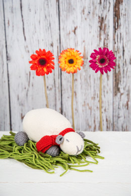 """Milly The Sheep Toy"" - Toy Knitting Pattern in MillaMia Naturally Soft Merino"