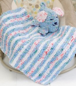 Baby Blankie & Puppy Pal in Red Heart Buttercup - LW2198