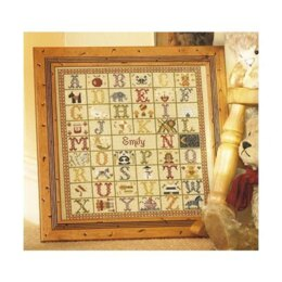 Historical Sampler Company A-Z Birth Sampler Cross Stitch Kit - 16ct Aida