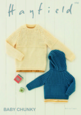 Hooded and Round Neck Sweaters in Hayfield Baby Chunky - 4765 - Downloadable PDF