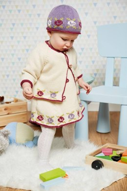 Baby Flora Christmas Dress, Cardigan and Beanie Age 0 -2yrs