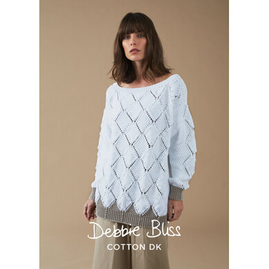 Barra Jumper : Jumper Knitting Pattern for Women in Debbie Bliss DK | Light Worsted Yarn