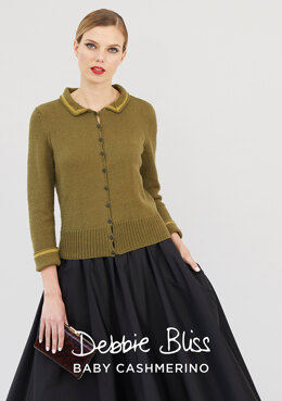 """Romane Cardigan"" - Cardigan Knitting Pattern For Women in Debbie Bliss Baby Cashmerino - DB256"