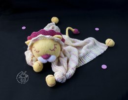 Lion Toy Baby Lace Blanket