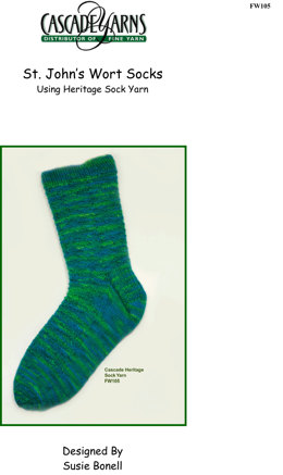 St. Johns Wort Socks in Cascade Heritage Paints - FW105