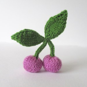 Cherries Knitting pattern by Amanda Berry Knitting Patterns LoveKnitting