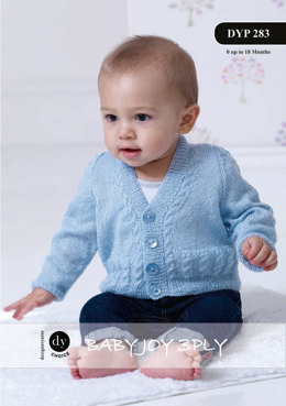 Pocket Detail Cardigan & Waistcoat in DY Choice Baby Joy 3 ply - Downloadable PDF