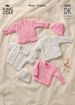 Cardigans, Sweater and Hat in King Cole Comfort Baby DK - 2885