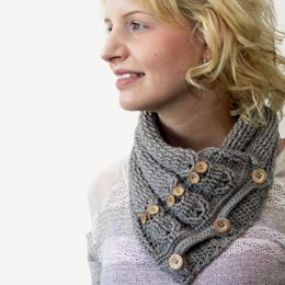 Cabled Owl Neck Warmer
