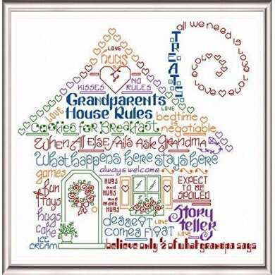Imaginating Let's Have Fun at Grandma's House Cross Stitch Chart - Multi
