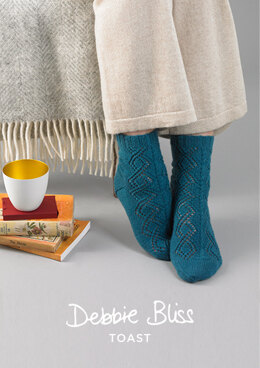 Enya Socks in Debbie Bliss Toast - DB204 - Downloadable PDF