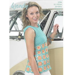 Crochet Top in Wendy Supreme Cotton 4 Ply - 5766